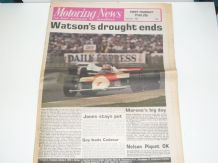 MOTORING NEWS 1981 July 23 British GP Watson wins, BTCC, F3, Border Counties Rally
